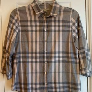 Pink and grey Burberry Brit button down